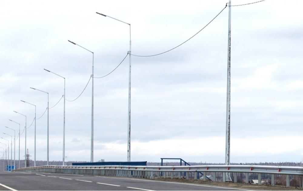 Освещение участка Р-255 «Сибирь» в Тулунском районе